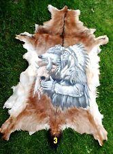 Ziegenfell * Goatskin Leather * Ziege * Tierfell bemalt * Teppich * Läufer