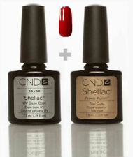 CND Shellac Set Base coat + Top coat + Wildfire Top Qualität Gel Kit UV LED
