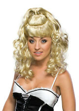 Blonde Curly Partial Up Do Spicy Girl Wig