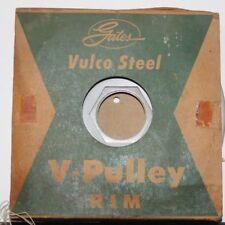 "New Old Stock Gates Vulco Steel V-Pulley 7803-10 6"" Diameter"