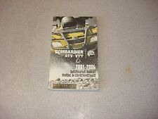 BOMBARDIER SPEC BOOKLET ATV VTT 2001-2006 219 100 237 OEM MANUAL BOOKLET BRP