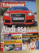 ECHAPPEMENT N°458: 10/2005: AUDI RS4 - DECES MICHAEL PARK - PIPO - LOTUS EXIGE