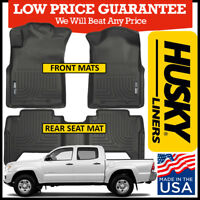 Husky Liners Weatherbeater Floor Mats fits 2005-2015 Toyota Tacoma Double Cab