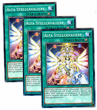 set 3X ALFA STELLCAVALIERE DUEA-IT057 Comune in Italiano YUGIOH