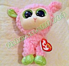 Babs Ty Beanie Boos Pink Lamb w/Ear Sew on Backwards Production ERROR Free Ship
