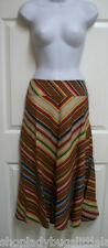 RALPH LAUREN SOUTHWESTERN INDIAN BLANKET CHEVRON STRIPE A-LINE LINEN SKIRT 6