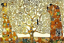 Gustav Klimt Tree Of Life Gold Contrast Art Print Poster 36X24 (91.5X61cm)