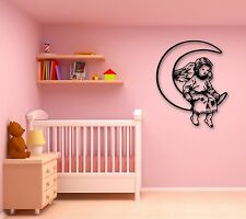 Wall Stickers Vinyl Decal Guardian Angel Moon Heaven Baby Bedroom (ig809)