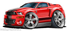 Ford Mustang Shelby Cobra Supersnake Wall Poster Graphic Decal Man Cave Clings