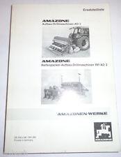 Ersatzteilliste Amazone Aufbau Drillmaschine AD 2 / RP-AD 2 Stand 02/1996