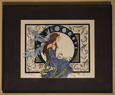 Amy Brown Blue Lady Fairy Signed Limited Edition Framed Art Deco Print