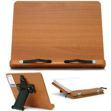 Book Stand Portable Wooden Reading Desk Cookbook Holder [T-]