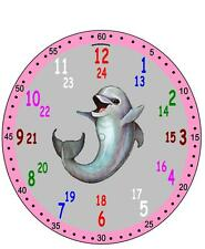 Wanduhr Kinder Lernuhr Kinderuhr Uhr Einschulung mit Motiv Wunschmotiv Fussball