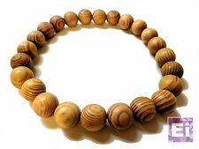 Akuma Prayer Bead Necklace: Natural Wood
