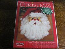 Caron WonderArt Christmas SANTA Kit #SK100 w/ Felt & Aunt Lydia's Craft Yarn~NIP