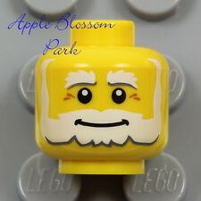 NEW Lego Santa SMILE MINIFIG HEAD White Beard Old Man Kingdom/Castle Gnome King