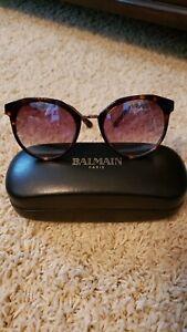 balmain sunglasses new unisex tortoise & gold