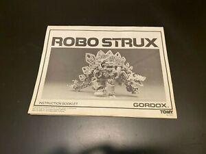 Vintage 1980s Tomy Robo Strux Gordox Stegosaurus robot Instruction Booklet dino