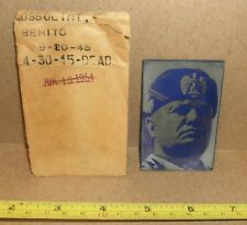 Benito Mussolini Newspaper Printing Plate 1945 Death Obituary Rare!
