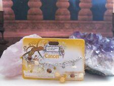 GEMSTONECANCER CHARM bracelet GIFT birthday *HONEY JADE* zodiac BNWT BIRTHSTONE