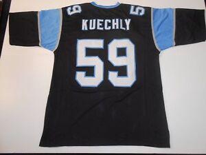 UNSIGNED CUSTOM Sewn Stitched Luke Kuechly Black Jersey - M, L, XL, 2XL