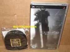 Crisis Core Final Fantasy VII 7 Metallic Cover Edition New + Shinra UMD Case PSP