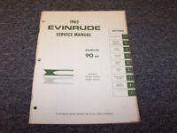 1965 Evinrude 90 HP Starflite Outboard Motor Shop Service Repair Manual Guide