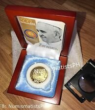 500 Piso Pope Francis Papal Commemorative Coin in Wooden Box