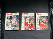 GALAXY SCIENCE FICTION Lot of 3/1956'57 '58  SF DIGEST PULP   SANTA COVERS !