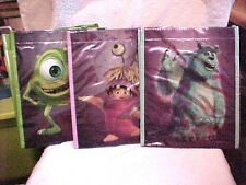 New Lot Of 6 Kellogg Monsters Inc Pixar 3D Tote Bags a mix of Mike Sulley  Boo