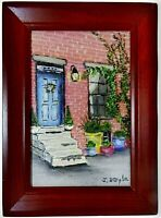 "M.JANE DOYLE SIGNED ORIGINAL ART OIL/CANVAS PAINTING ""THE DOORWAY"" FRAMED"