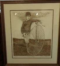 PENNY FARTHING - Signed Etching - Joseph J Stelmach - Limited Edition Numbered