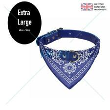 Dog Bandana Collar- Adjustable Pet Neckerchief- Extra Large Blue