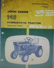 John Deere 120 140 Lawn Garden Tractor & 49 Snow Thrower Operator (2 Manuals)40p