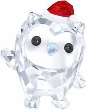 Swarovski Holiday Christmas Hoot Happy Holidays Figurine New Nib 5286202