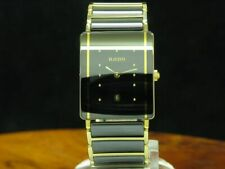 Rado Diastar Keramik / Gold Mantel Damenuhr mit Datum / Ref 160.0381.3