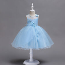 Flower Girl Dress Princess Formal Bridesmaids Party Prom Size 4 6 8 10 12 14 16