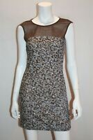 AURELIO COSTARELLA Brand Brown White Sequins Dress Size 0 LIKE NEW #AN02