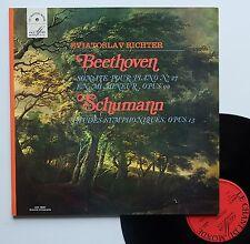 """Vinyle 33T Sviatoslav Richter """"Beethoven, sonate op.90 - Schumann, Etudes Sym.."""""""