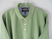 Tommy Hilfiger Golf Men's Size Medium Short Sleeve Green 100% Cotton Polo Shirt