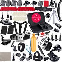 70 en 1 GoPro Hero2/3/4/5 Caméra Ensemble d'accessoires POLE Tête Poitrine