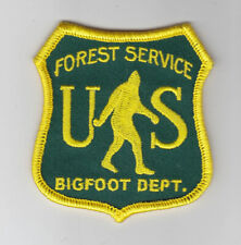 Us Forest Service Bigfoot Department embroidered patch Sasquatch,