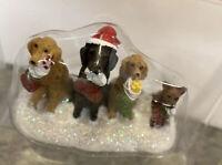 St Nicholas Square Christmas Dogs Puppy Stocking Lab Retriever  Figurine  New