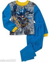 Batman Pajamas 4-5 6-7 8 10 12 Boys 2 Piece Flannel Set New Sleepwear XS S M L