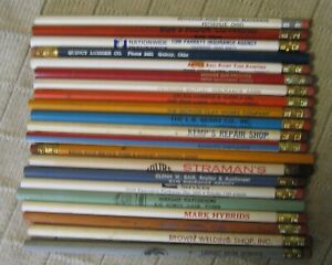Estate Sale - Lot of 20+ Vintage Wood Advertising Pencils - Ohio