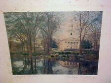 WALLACE NUTTING MILFORD CHURCH HAND COLORED PHOTO