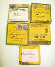 Vintage 16mm Home Movie Film Used Cine-Kodak Lot 5 1930's 40's 50's RI As Is A
