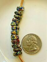 """African Trade Beads  """"End of The Day"""" Millefiori Venetian Glass"""