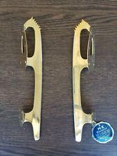 New listing Vintage Unsharpened Ice Skating Blades - Mk Gold Star (Gold, Size 8 1/3)