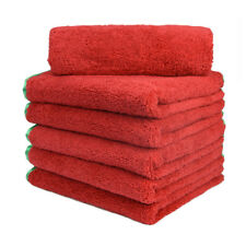 """12Pcs Microfiber Towel Auto Cleaning  Drying Polishing Detailing  16"""" x 24"""" RED"""
